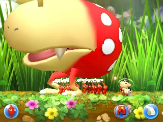 Walking under the Bulborb in Hey! Pikmin.