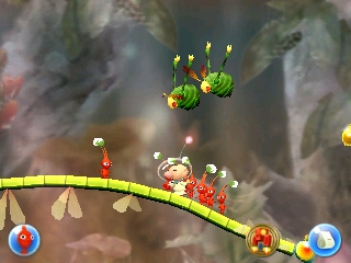 Swooping Snitchbugs attacking in Olimar's Madcap Ride.
