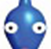 The face of a Blue Pikmin.