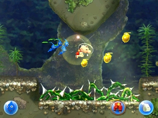 An obstacle the player needs a high water current for in Treacherous Currents.