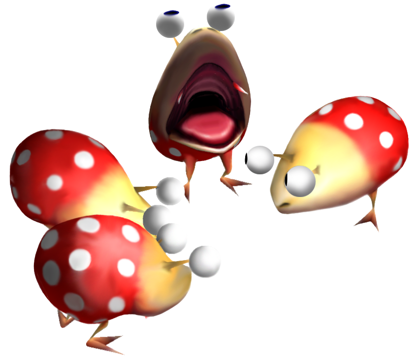 Group artwork of four Dwarf Red Bulborbs.