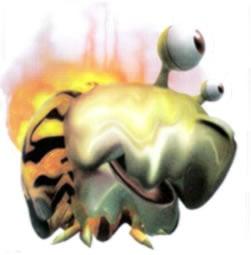 Artwork of a Fiery Bulblax.
