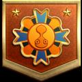 "The ""Greenhorn"" badge in Pikmin 3 Deluxe."