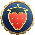 """The """"Bearing Fruit"""" badge in Pikmin 3 Deluxe."""