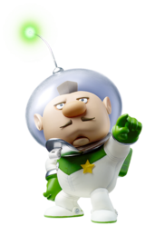 Captain Charlie's spirit in Super Smash Bros. Ultimate. It uses official artwork from Pikmin 3.
