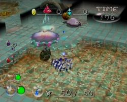 The Giant's Bath in Pikmin 2's Challenge Mode.