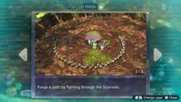 Page 3 of the fifth unique hint in the Twilight River in Pikmin 3 Deluxe. This screenshot of the hint page should be replaced with the hint image itself when possible.