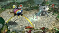 The landing site of the Tropical Wilds in Pikmin 3 Deluxe. Compare with :File:01 Site Tropical Wilds.png.