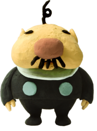 Artwork of The President from Pikmin 2.