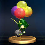 The Careening Dirigibug trophy from Super Smash Bros. Brawl.