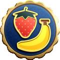 "The ""Fruitful Endeavor"" badge in Pikmin 3 Deluxe."