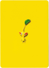 Pikmin Puzzle Card back. Yellow leaf Pikmin variant.
