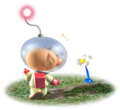 Olimar and Blue Pikmin sprout P1 art.png