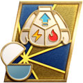 """The """"Strong on the Inside"""" badge in Pikmin 3 Deluxe."""