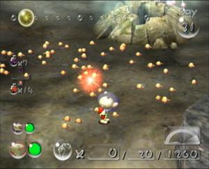 Screenshot of the Ujadani from Pikmin 2.