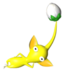 Sticker of a Yellow Pikmin.