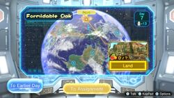 The area selection menu in Pikmin 3 Deluxe, with all areas unlocked.