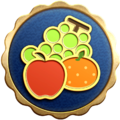 """The """"Fruit Force"""" badge in Pikmin 3 Deluxe."""