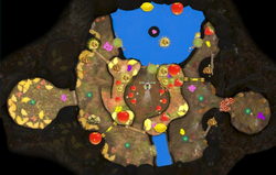 """The """"Collect Treasure!"""" layout of Twilight Hollow."""