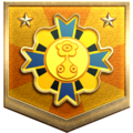 """The """"Good as Gold"""" badge in Pikmin 3 Deluxe."""