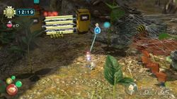 The starting area of Another Part Found, showing an Electric Gate, the web of an Arachnode, and a bridge being built in the opposite direction from Story Mode.