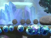 The rocky Rock Pikmin cutscene in Echo Cavern.