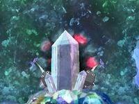 The doorway cutscene in Crystal Tunnels.