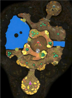 """The """"Battle Enemies!"""" map of Twilight Hollow."""