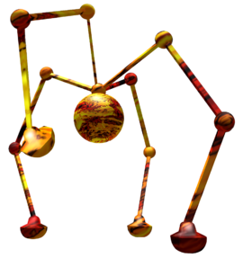 Artwork of a Beady Long Legs.