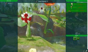 Screenshot of a new game of Piki Plucker.