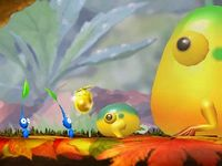 The Yellow Wollywog cutscene in Downpour Thicket.