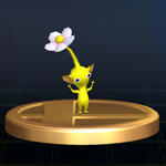 Yellow Pikmin trophy SSBB.png