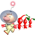 Olimar guides Red Pikmin P1 art.png
