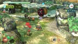 A screenshot of Creature Hunting, showing a Spotty Bulbear and 3 Dwarf Bulbears following it.