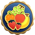 "The ""Fruit Ballad"" badge in Pikmin 3 Deluxe."
