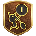 """The """"Archaeology Hobbyist"""" badge in Pikmin 3 Deluxe."""