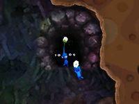 The doorway cutscene in Drenchnozzle Den.