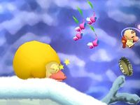 The ride start cutscene in Over Wintry Mountains.