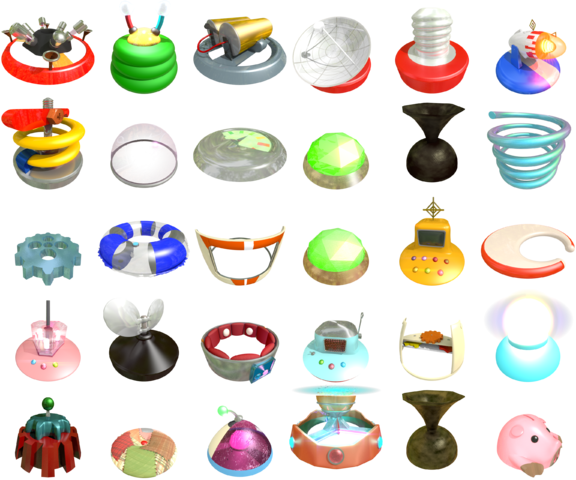 New renders of the ship parts from Pikmin, reflecting a style more like Pikmin 3.