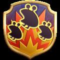 "The ""Blast Radius"" badge in Pikmin 3 Deluxe."