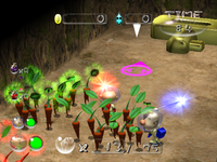 By editing the game files, it's possible to have pikpik carrots in your party, in Pikmin 2's Challenge Mode.