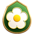 """The """"Flower Grinder"""" badge in Pikmin 3 Deluxe."""