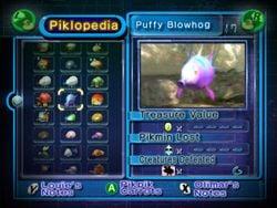Screenshot of the Piklopedia.