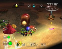 The Snack Pit in Pikmin 2s Challenge Mode.