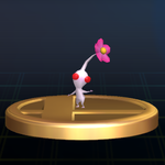 The White Pikmin trophy from Super Smash Bros. Brawl.