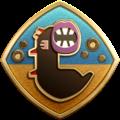 "The ""Duel in the Dunes"" badge in Pikmin 3 Deluxe."