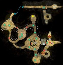 A map of Another Part Found. This was made by editing together 2 screenshots of the area's map.