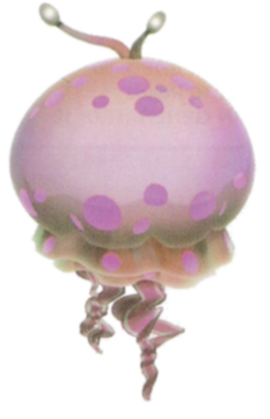 The Greater Spotted Jellyfloat from Pikmin 2.