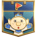 """The """"Pikmin Challenger"""" badge in Pikmin 3 Deluxe."""