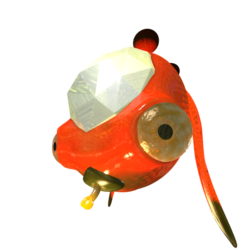 A Gatling Groink drawn and rendered in the style of enemies from Pikmin 3.